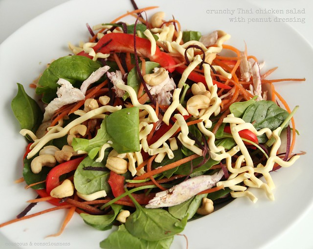 Crunchy Thai Chicken Salad with Peanut Dressing 2