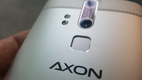 ตัวสแกนลายนิ้วมือของ ZTE Axon Elite