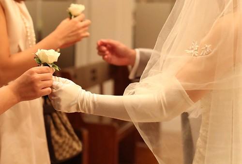 結婚式で使用したグローブの画像