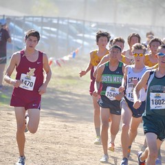 Max is our first finisher in the CIF prelims in Riverside. Results to come later. #running #crosscountry