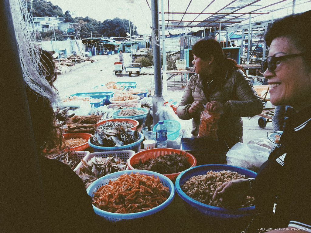 Dried Seafood Stall Scene