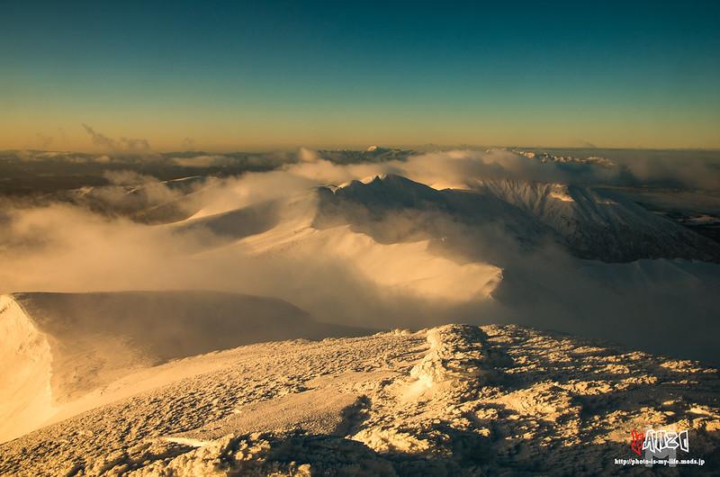 富良野岳の朝