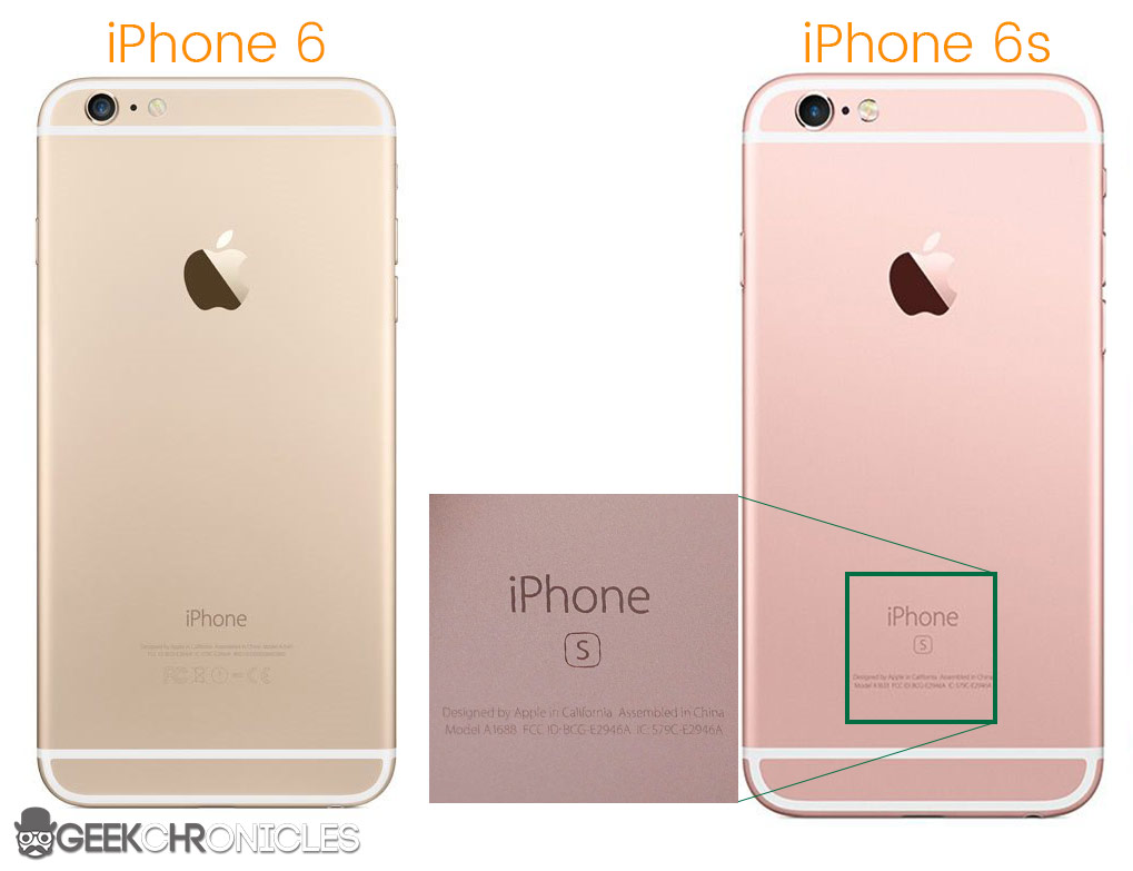 diferenta intre iphone 6 si iphone 6s