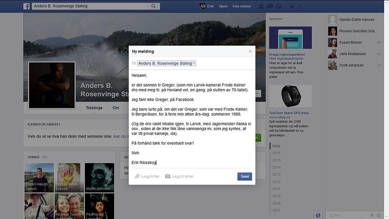 sønnen til greger hm facebook