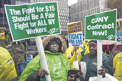 DC 37 supports the campaign for a  minimum wage. (2015)