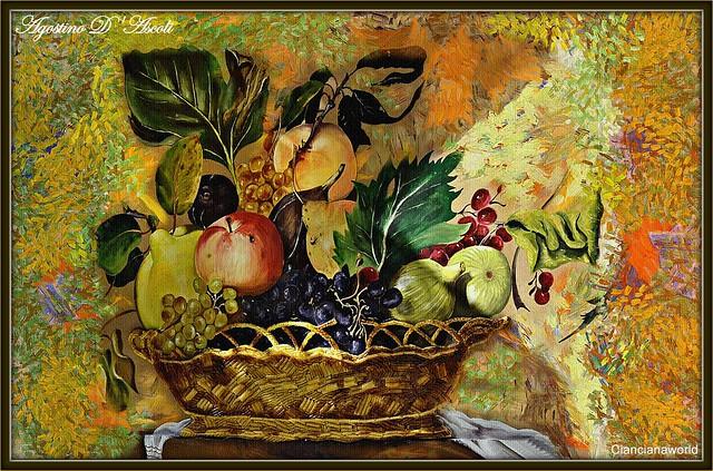 Canestro con frutta... Caravaggesco - Ottobre-2016