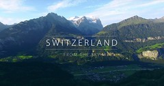 Švýcarsko s dronem