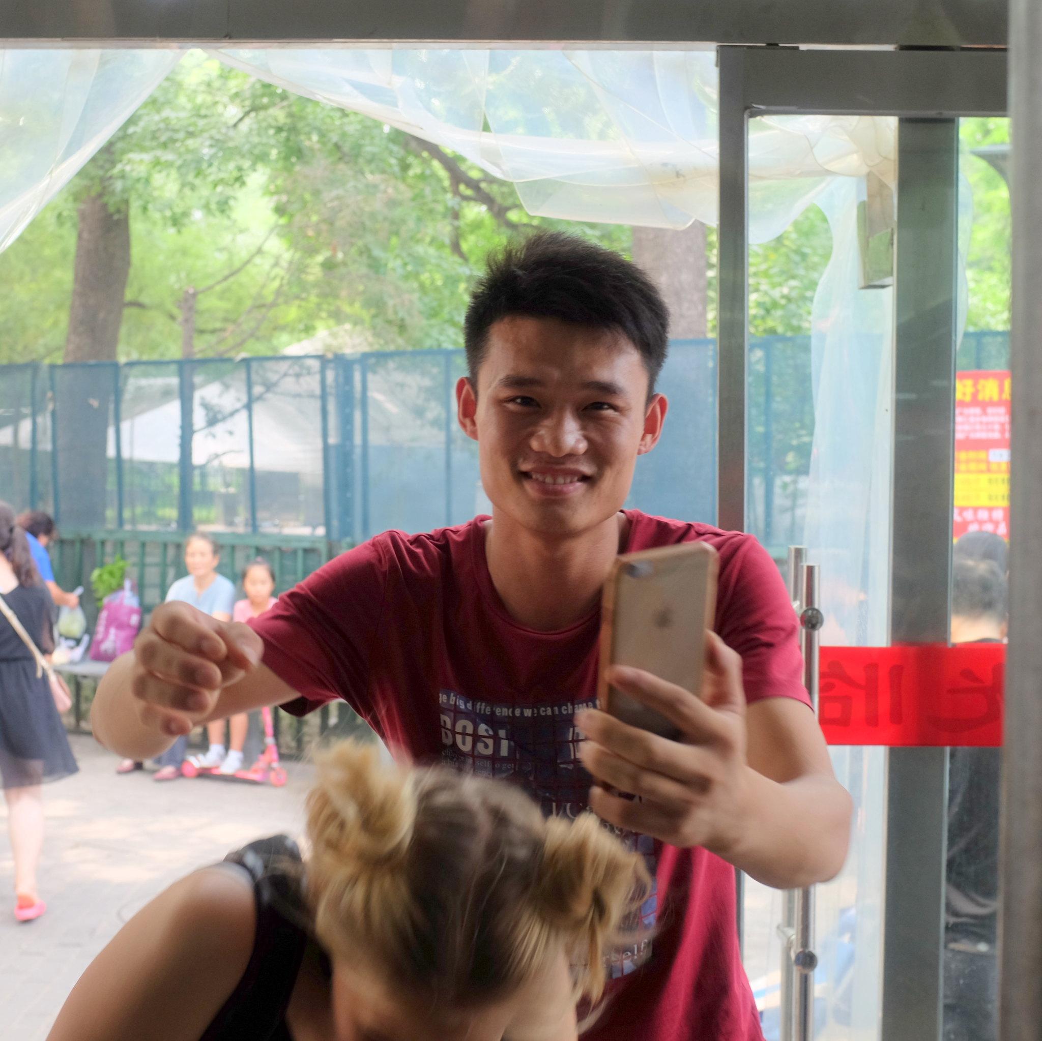 Selfie mit WaiGuoRen missglückt