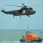 Eastbourne Airbourne 2015 Simulated sea rescue