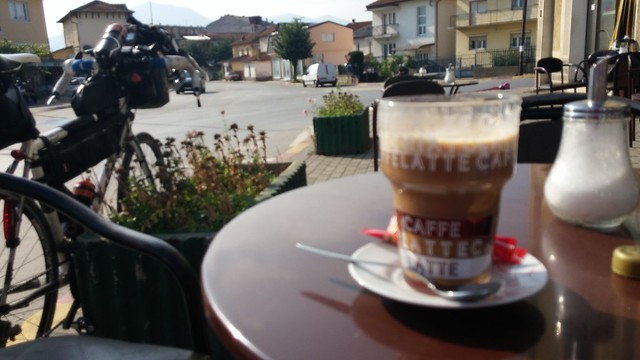 Mr Nescafe - one of the nicer coffees of the trip