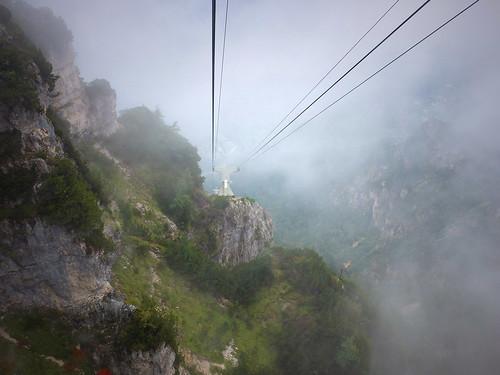 Talfahrt im Nebel