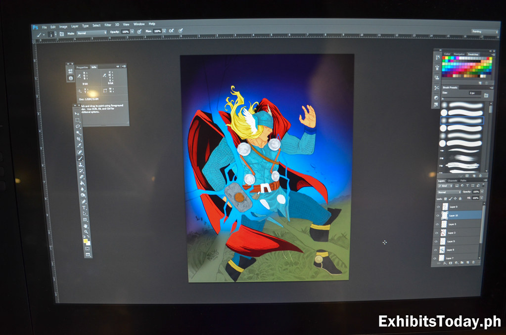 Digital Illustration of Thor by Felix Morales