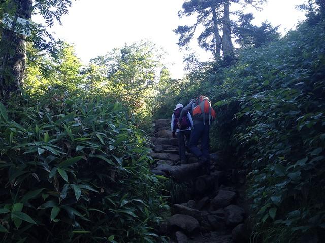 西穂高岳 西穂高口ルート 石段