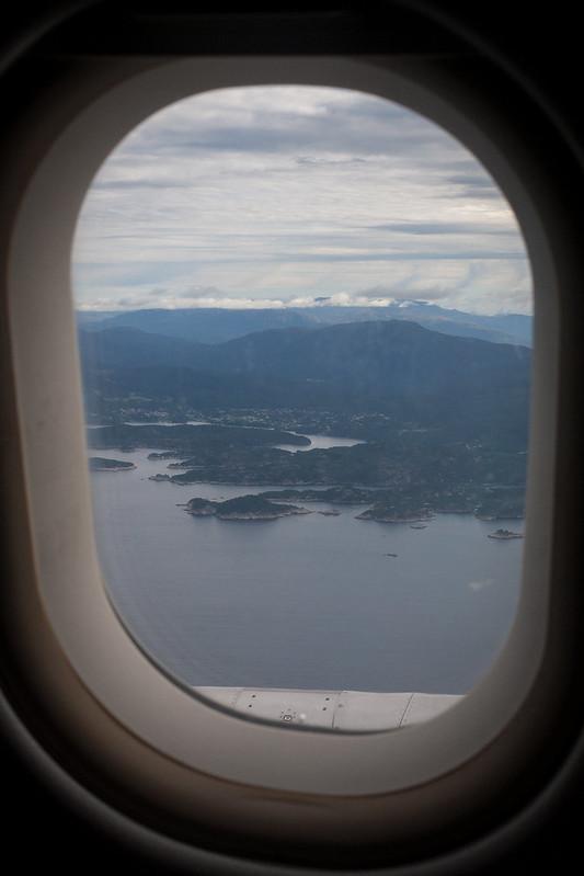 Flying into Bergen