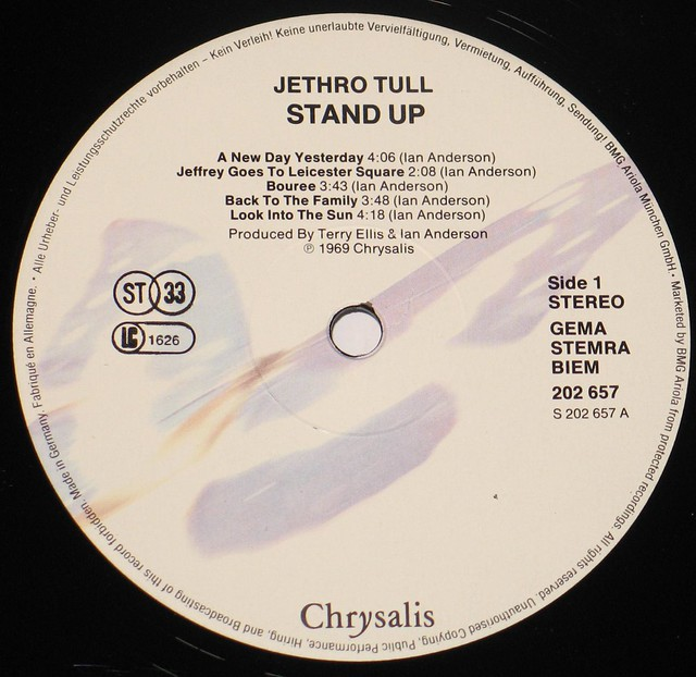 "Jethro Tull - Stand Up Germany 12"" Vinyl LP"
