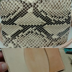 #python #leather #snakeskin #businesscards #leather #exotic #wallets #handmade