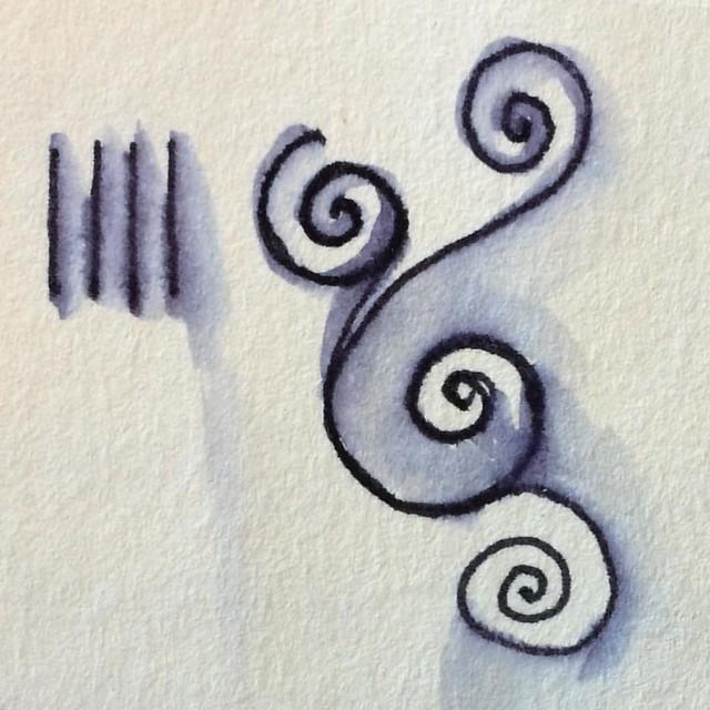 Doodle #doodles #inkwashes #pentesting #staedlertriplusfineliner