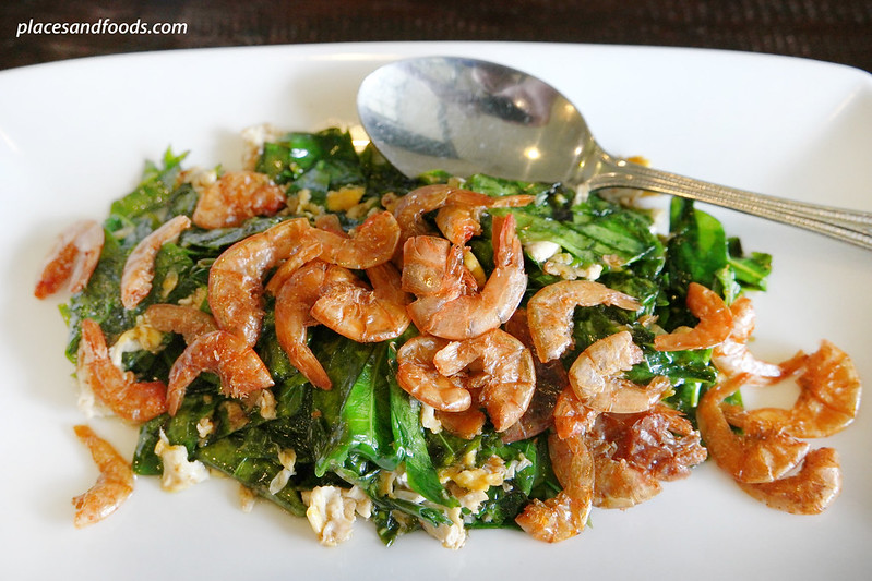 one chun phuket pak meang with dried shrimps