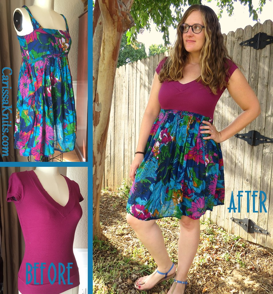 Floral Sundress - Before & After