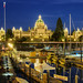 The Blue Hour View Of British Columbia Parliament Buildings and Inner Harbour, Victoria, Canada :: HDR by :: Artie | Photography :: Travel ~ Oct