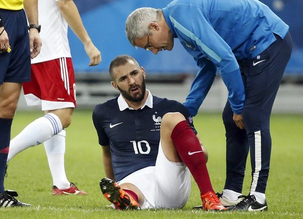 Benzema se lesiona; baja ante Dinamarca