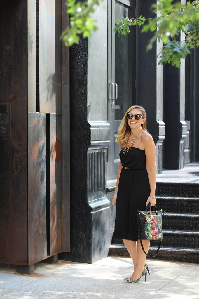 Black Culottes Jumpsuit | #NYFW