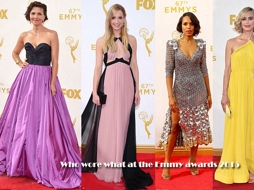 Who wore what at the Emmy awards 2015