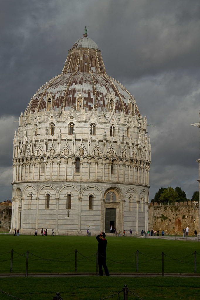 Baptistry next to Leaning Tower of Pisa