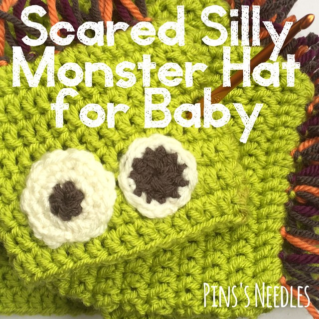 Free Crochet Pattern Scared Silly Monster Hat For Baby Preemie