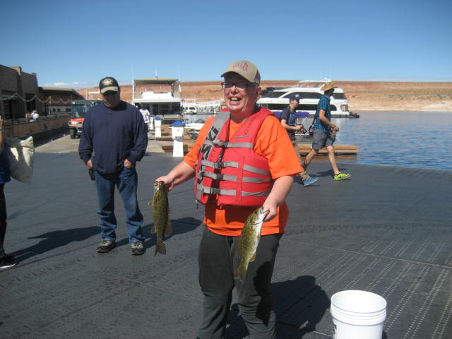C.A.S.T. Participant Enjoying Their Catch
