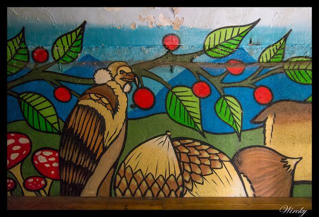 Grafiti cóndor en Refugio de Majalavilla