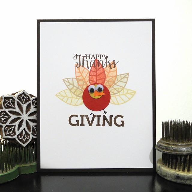 Turkey Card by Jennifer Ingle #SimonSaysStamp #Thanksgiving #JustJingle