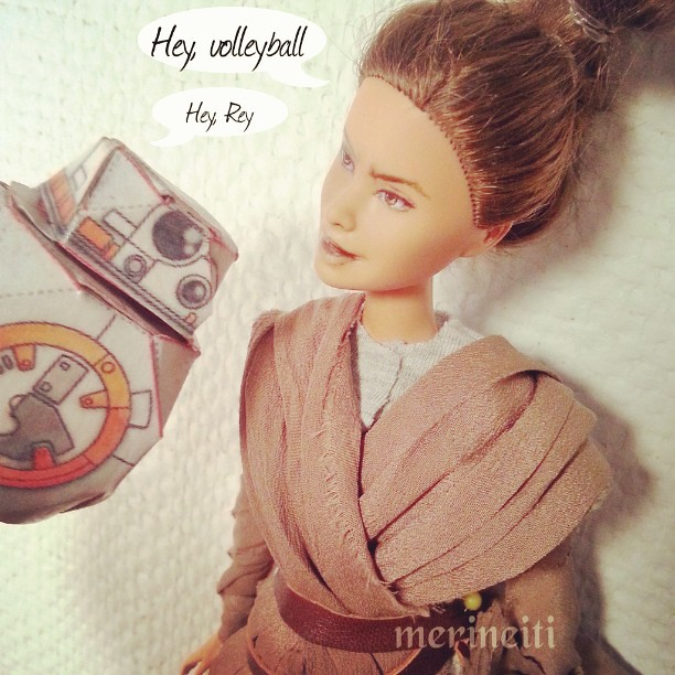 Hey, hey. #starwarsrey #tfa #theforceawakens #cusrompainteddolls #fashiondolls #bb8 #starwarsbb8 #bb8droid #fashiondollrepaints #barbierepaint #customsyatwarsfigure #customreyfigure #starwarsepisodevii #imnoone #imadethis #dollrepaints #ooakdolls #dollsta