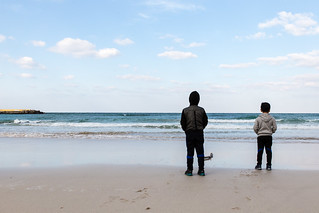 Bild av Woljeong Beach (월정리해변) Woljeong-Ri Beach. sky beach kids brother jeju 제주 대한민국 아이들 형제 제주시 제주특별자치도