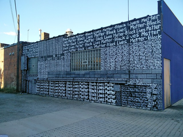 Black Lives Matter Written Mural