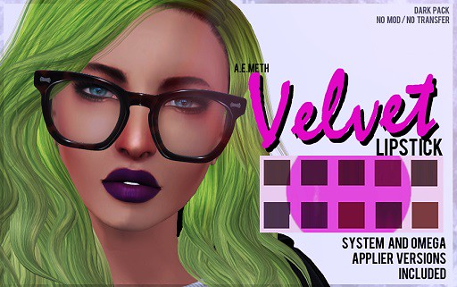 [ a.e.meth ] - Velvet Lipstick (Dark Pack)