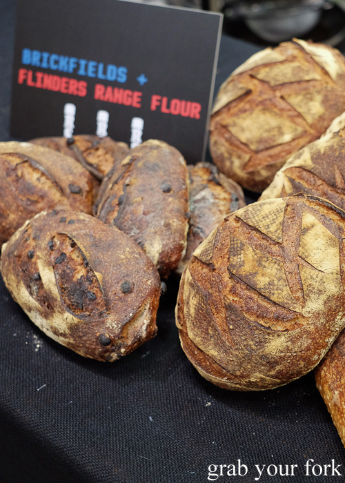 Brickfields bread using Flinders Range flour at Rootstock Sydney 2015