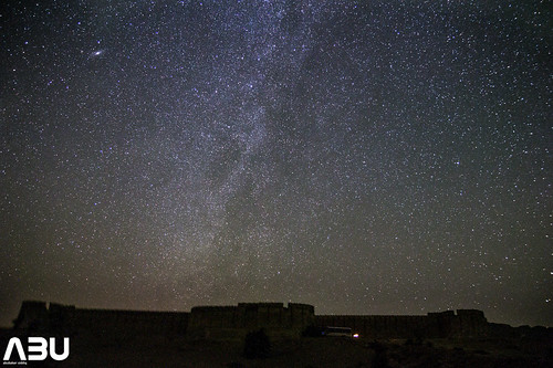 Milky way galaxy and Ranikot Fort