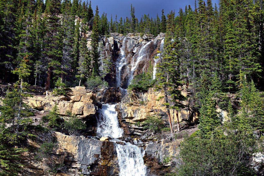 Tangle Falls...Without all the People (Jasper National Park)