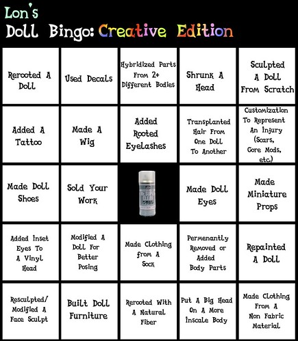 Lon's Doll Bingo: Creative Edition