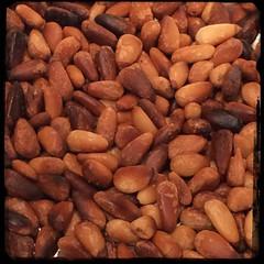 #homemade #caponata #caponatina #CucinaDelloZio - toasted pine nuts (pignoli)