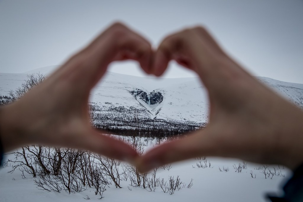 Where is the love? All around ya. Kebnekaise. Lappland. Sweden.