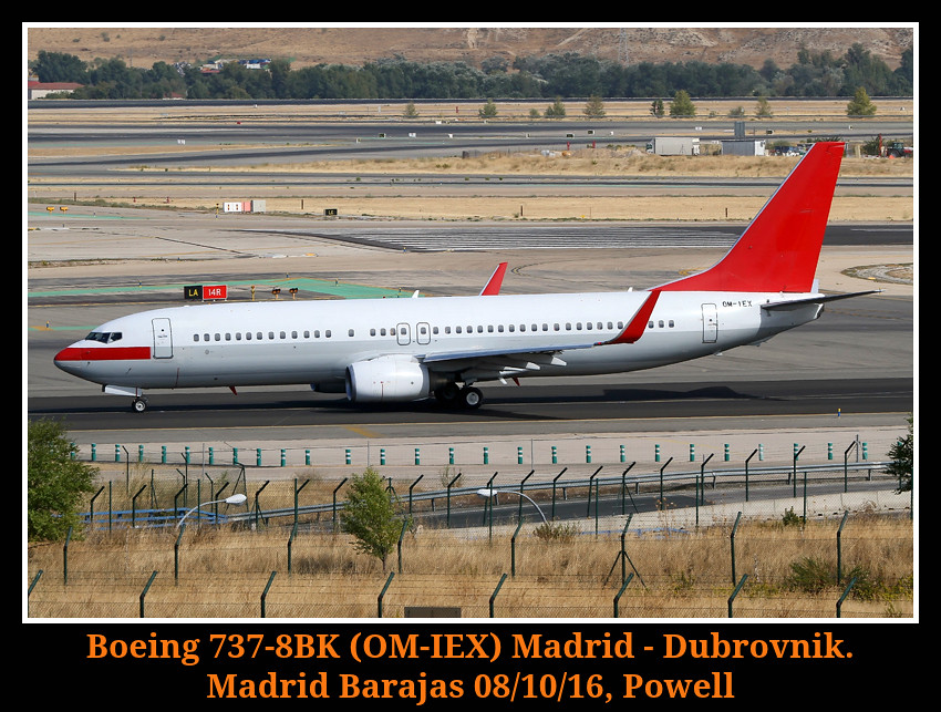 OM-IEX - B738 - Travel Service