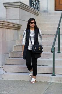 long black vest, striped shirt, white mules, black pants-2.jpg