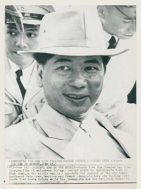 1955 Wirephoto - South Vietnam Premier Ngo Dinh Diem Smiles