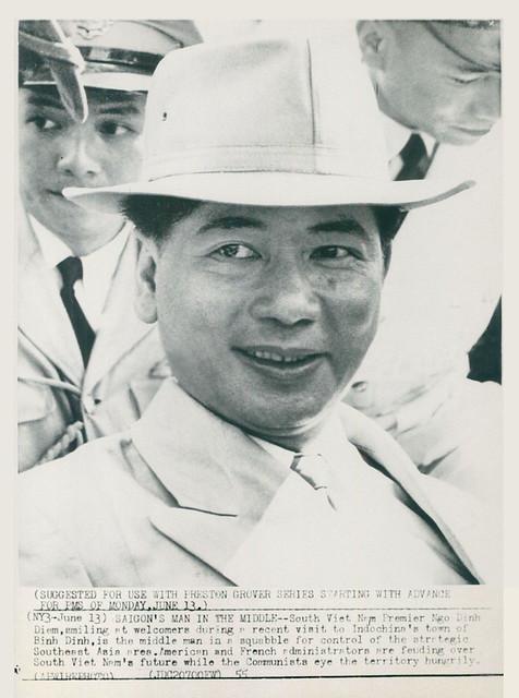 1955 Wirephoto - South Vietnam Premier Ngo Dinh Diem Smiles