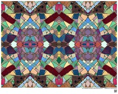 Modern Mandala Title: Owl or Embedded Tile Detail at Watts Towers LA CA  XVII  #BartRoss ©2016  #wattstowers #watts #mirrored #abstractphotography #artprints  #Curator #LAart #artistic_share #surreal42 #abstraction  #ArtPhotography #symmetry #Ar
