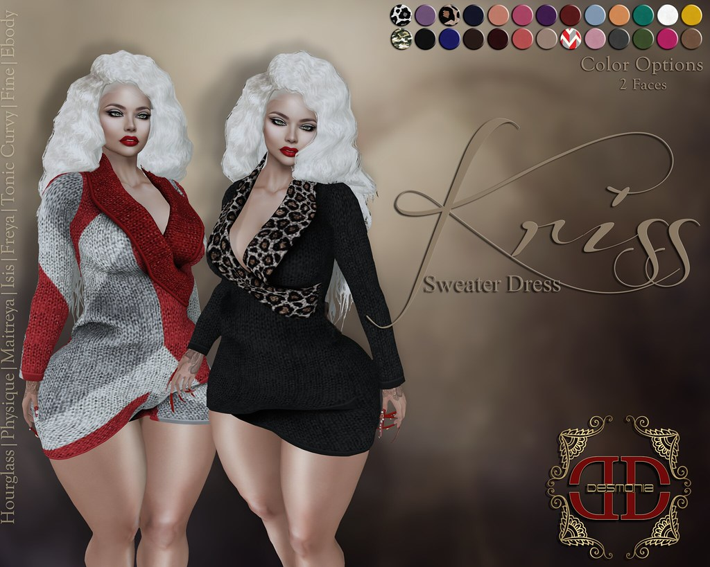Kriss Sweater Dress Proceeds to Alpha Sigma Omega Toys 4 Tots Charity - SecondLifeHub.com