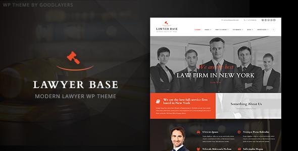 Lawyer Base v1.0.4 - Lawyers Attorneys WordPress Theme