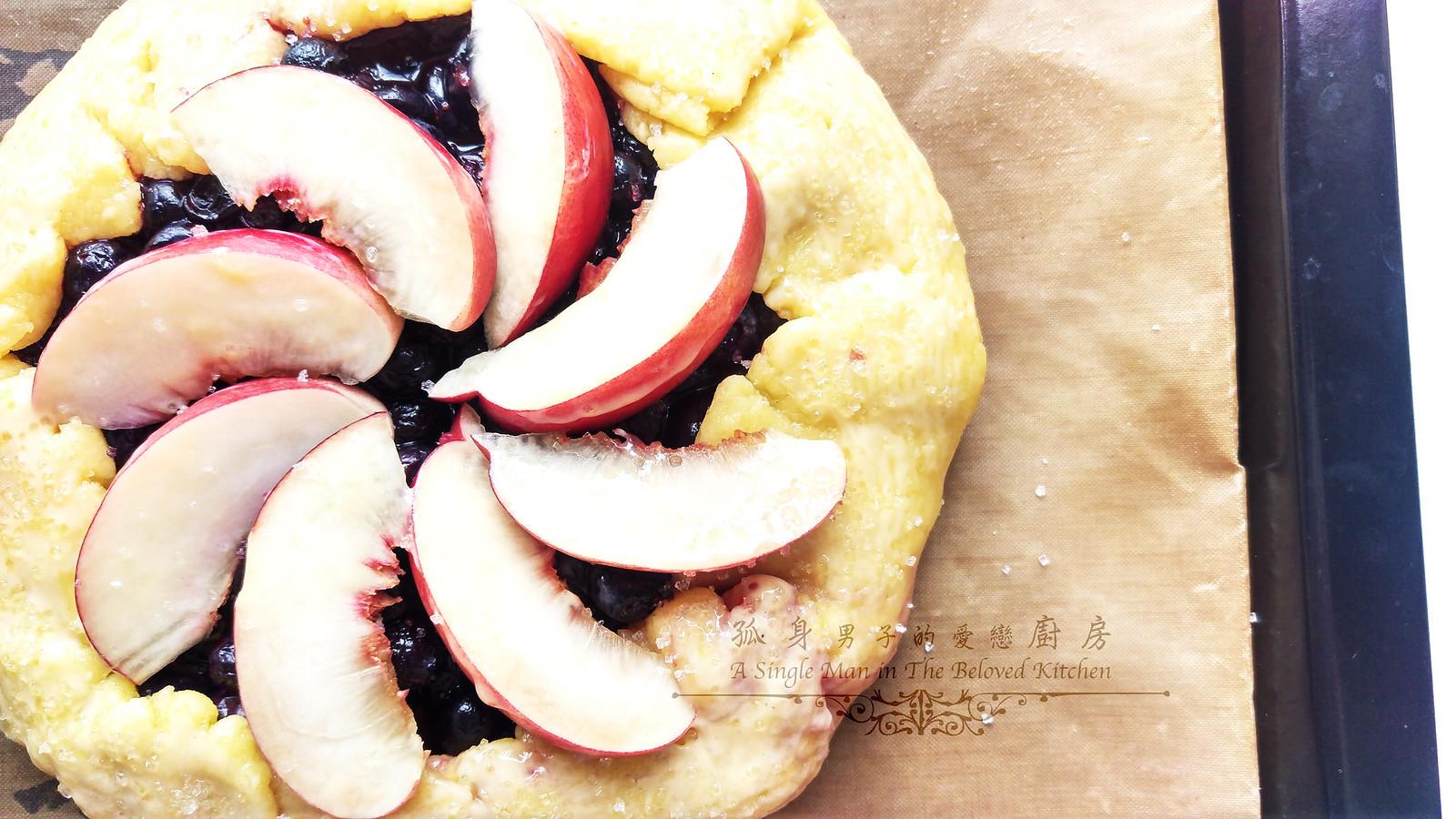 孤身廚房-藍莓甜桃法式烘餅Blueberry-Nectarin Galette22